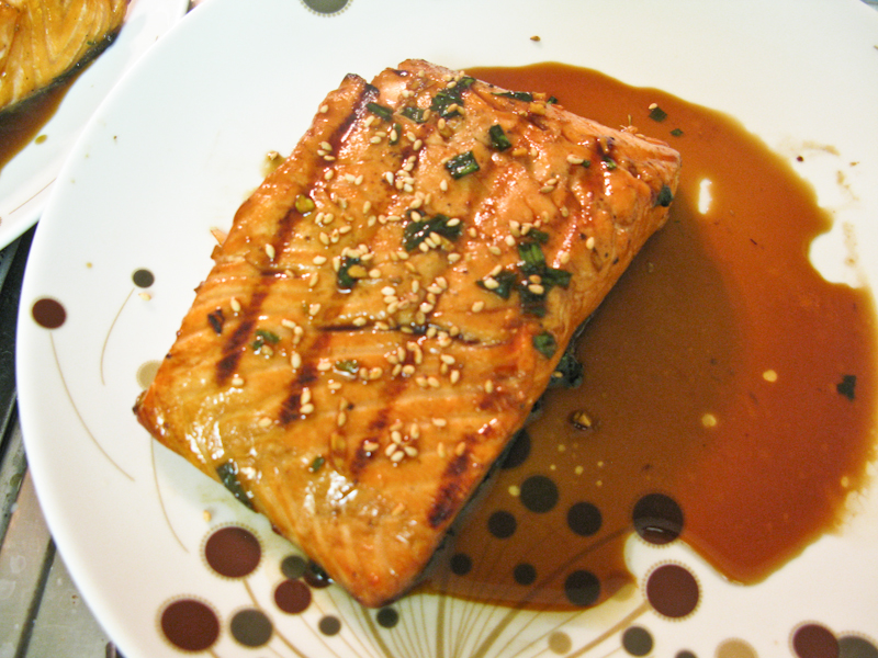 Honey-Ginger Salmon Filet