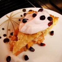 Persimmon Pie and Pomegranate Whipped Cream
