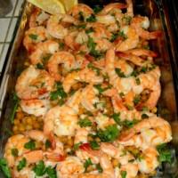 Garlic Shrimp and Chickpeas