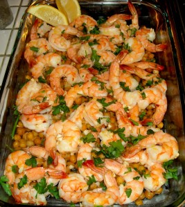 Garlic Shrimp and Chickpeas