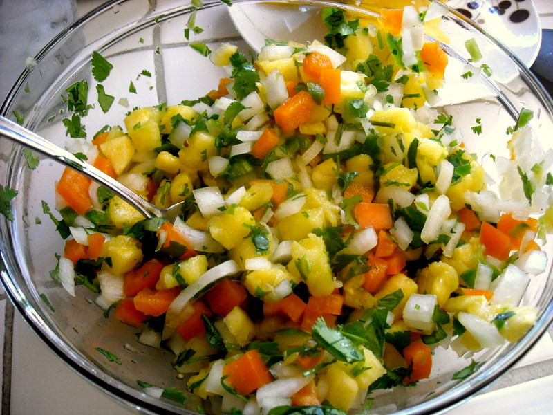 "Pineapple Salsa—Just for the ""Halibut"" 