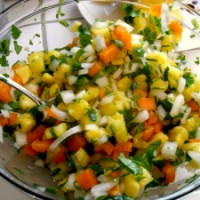 "Pineapple Salsa---Just for the ""Halibut"""