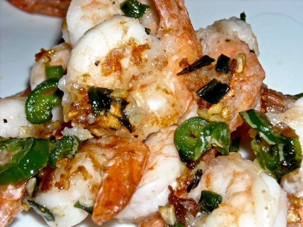 Salt and Pepper Garlic-Chili Shrimp