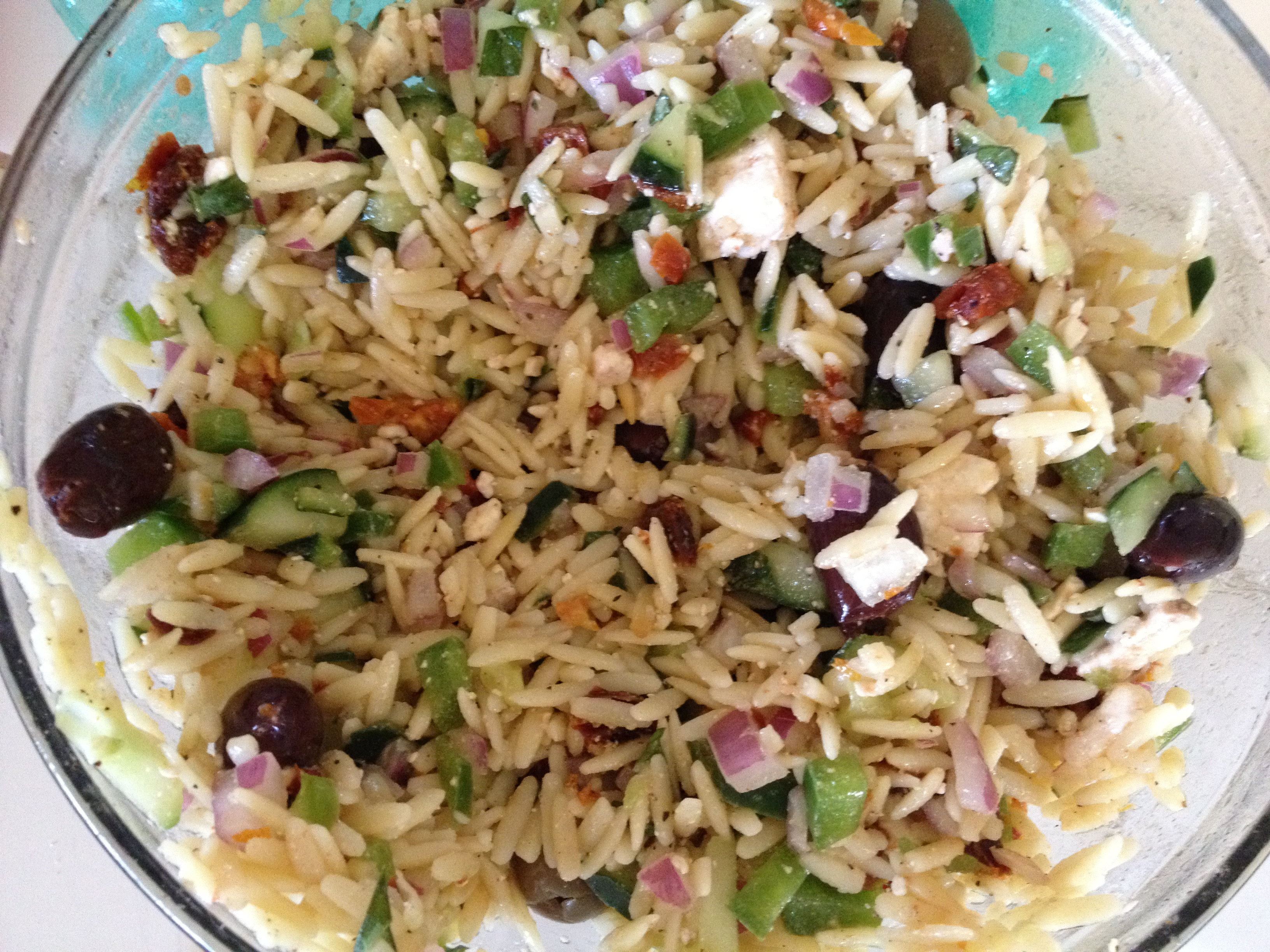 Meatless Monday: Greek Orzo Salad | For the Love of Food