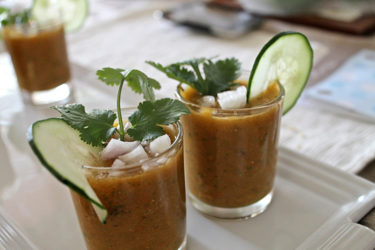 Meatless Monday: Grilled Avocado Cheese Sandwiches with Tomato Gazpacho