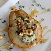 Free-For-All Friday: Baked Pears With Blue Cheese, Walnuts and Honey